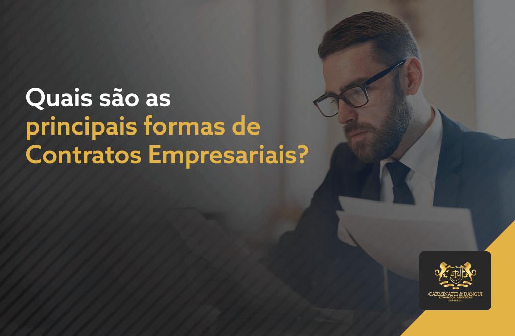 Conheça as principais formas de Contratos Empresariais